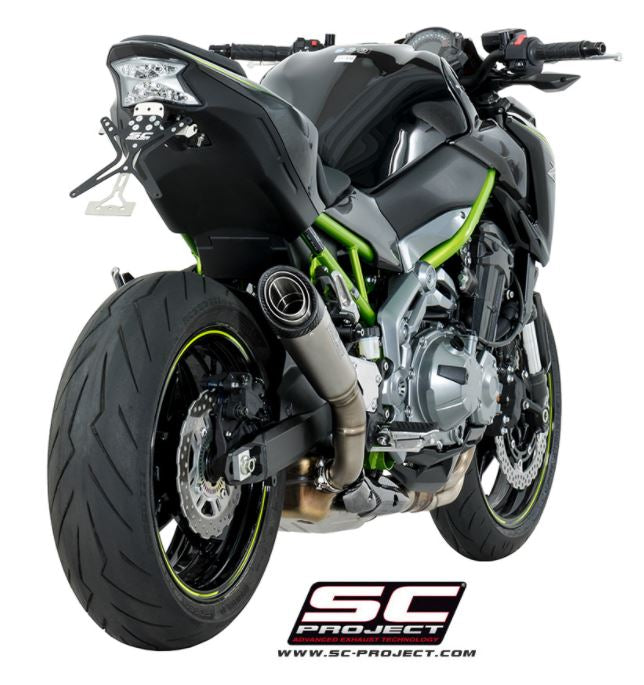 SC Project S1 Titanium Slip-On Exhaust System 2017+ Kawasaki Z900