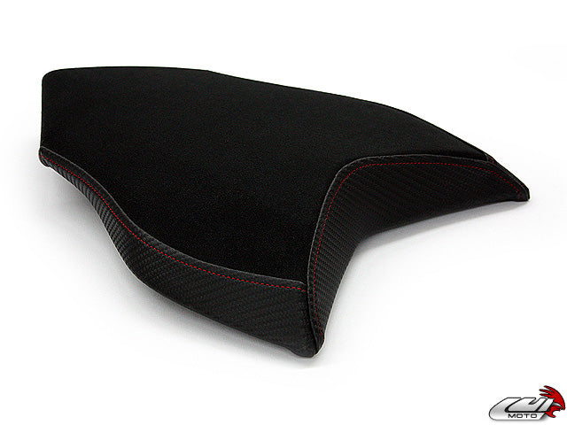 LuiMoto Team Italia Suede Seat Cover 10-11 MV Agusta Brutale 990R, 10-11 Brutale 1090R - Red Stitching