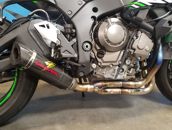 Graves Motorsports Full LINK Low Mount Titanium Exhaust System 2016-2017 Kawasaki ZX-10R | EXK-16ZX1-FTCL