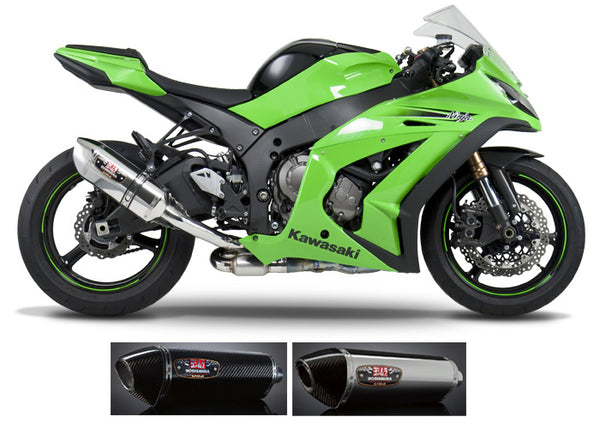 Yoshimura R77 3/4 Slip-on Exhaust Systems for 2011-2013 Kawasaki ZX10R