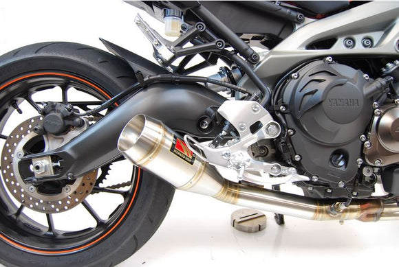 Competition Werkes GP Stainless Steel Slip-On Exhaust for '14-'17 Yamaha FZ09 / MT09, '16-'17 XSR 900 | WY900-S