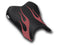LuiMoto Flame Edition Seat Cover 06-07 Yamaha YZF-R6 - Cf Black/Deep Red