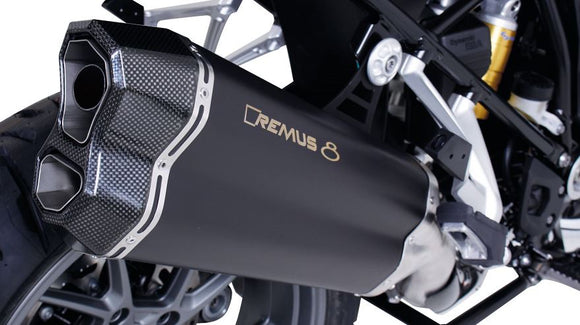 REMUS 8 Slip-On Exhaust Systems 2013-2018 BMW R1200GS/ADV