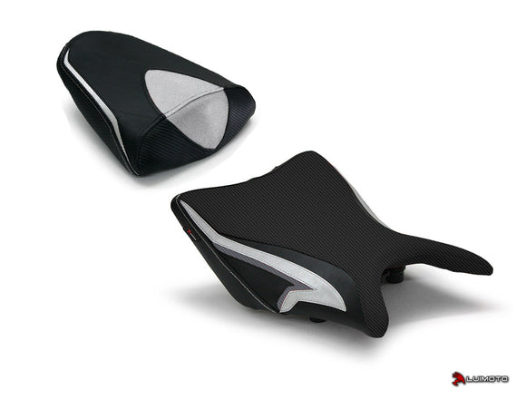 LuiMoto Tribal Blade Seat Cover for 2011-2013 Honda CBR250R - Cf Black/Silver