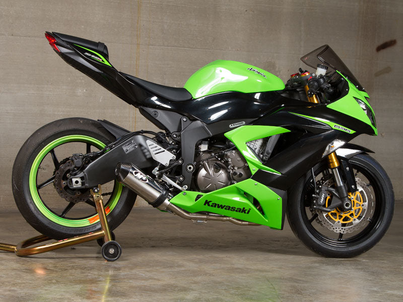 M4 Street Slayer Polished Full Stainless Steel Exhaust System for 2013-2015 Kawasaki ZX6R 636 [KA6992]
