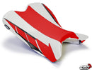 LuiMoto Limited Edition Seat Cover 2009-2012 Yamaha YZF R1 - CF Red/White
