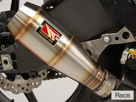 Competition Werkes GP Race Stainless Steel Slip-on Exhaust 2008-2010 Kawasaki ZX10R