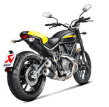 Akrapovic Slip-On Line (Black Titanium) 2015+ Ducati Scrambler | S-D8SO4-CUBTBL
