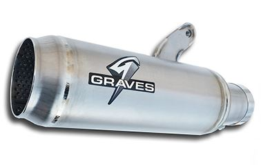Graves Motorsports Moto1 Cat Black Slip-On Exhaust System for 2015-2016 Yamaha YZF R1/R1M [EXY-15R1-SOM]