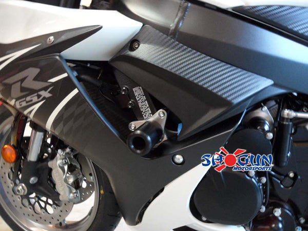 Shogun Motorsports No-Cut Black Frame Sliders 2011-2015 Suzuki GSXR 600/750