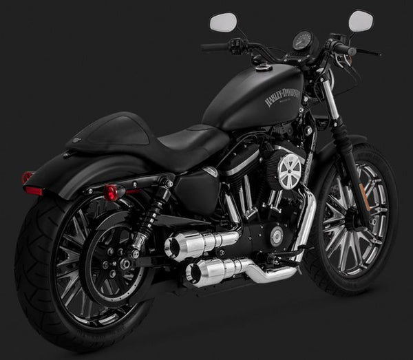 Vance & Hines Hi-Output Grenades 2-into-2 Chrome Full Exhaust Systems 2004-2015 Harley Davidson Sportster