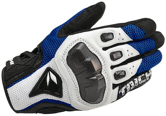 RS Taichi RST391 Armed Mesh Gloves White/Blue