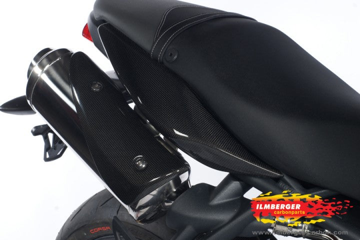 ILMBERGER Carbon Fiber Left & Right Side Underseat Panel 2007-2012 Triumph Street Triple 675/R
