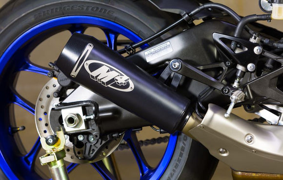 M4 GP2 Black Ceramic Slip-On Exhaust for 2015-2016 Yamaha R1/R1M [YA9922-GP]