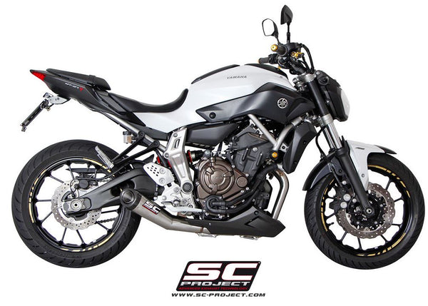 SC Project Conic 2-into-1 Full Exhaust System 2014-2017 Yamaha FZ-07/MT-07 | Y14-C21A