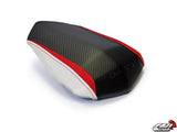 LuiMoto Team Yamaha Seat Cover 2009-2014 Yamaha YZF R1 - CF Black/Red/CF PearlRed/CF Pearl