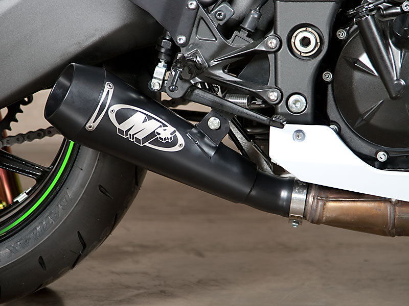 M4 GP Black Slip-on Exhaust System '08-'10 Kawasaki ZX10R