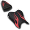 LuiMoto Flame Edition Seat Cover 06-07 Yamaha YZF-R6 - Cf Black/Cf Red