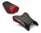LuiMoto Raven Edition Seat Covers 2006-2013 Yamaha FZ1 - Cf Black/Deep Red