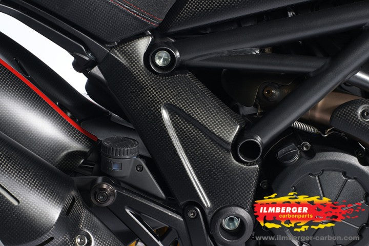 ILMBERGER Carbon Fiber Frame Cover (Right) 2011-2012 Ducati Diavel