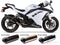 Two Brothers V.A.L.E. M2 Black Series Slip-on Exhaust Systems 2013-2015 Kawasaki Ninja 300