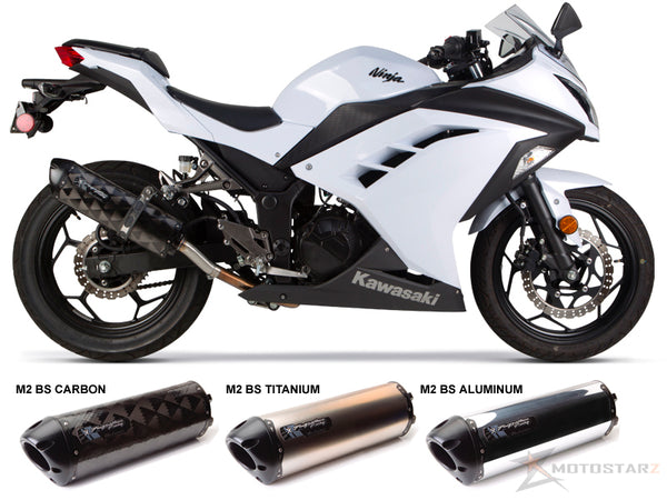 Two Brothers V.A.L.E. M2 Black Series Full Exhaust Systems 2013-2015 Kawasaki Ninja 300