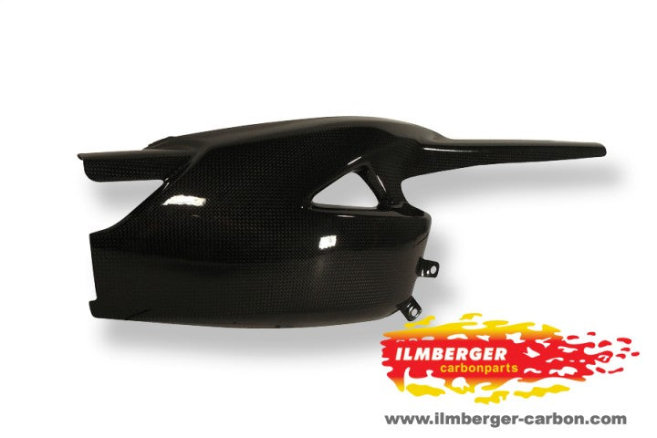 ILMBERGER Carbon Fiber Swingarm Cover w.Chain Guard 2011-2012 Triumph Speed Triple / R 1050