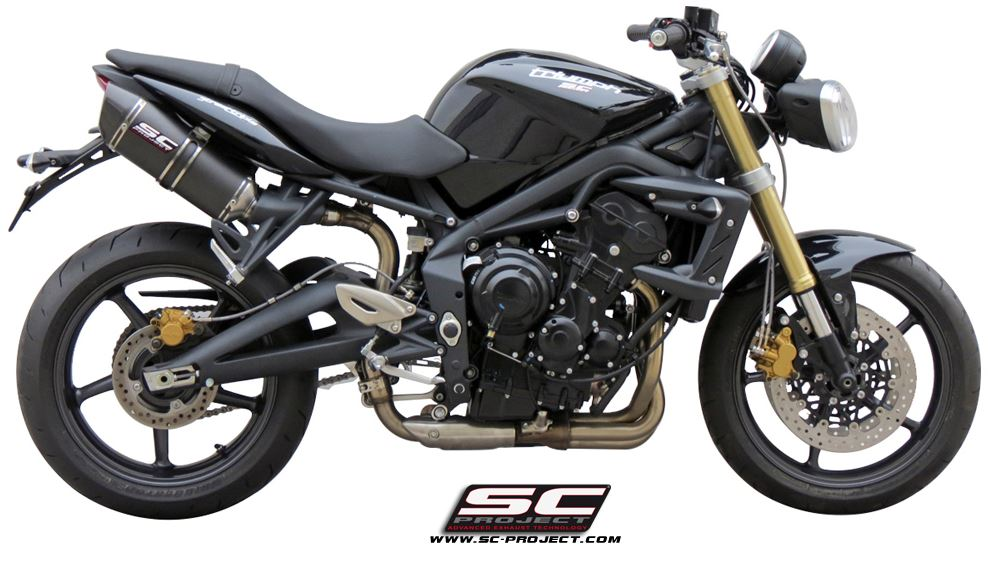 Sc Project Oval Slip On Exhaust For 2007 2012 Triumph Street Triple