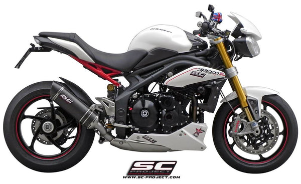 SC Project Oval (Low Position) Slip-on Exhaust for 2011-2015 Speed Triple 1050