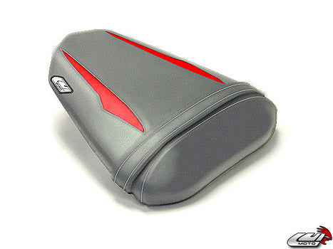 LuiMoto Raven Edition Seat Cover 2008-2015 Yamaha YZF R6 - Silver/Red/White