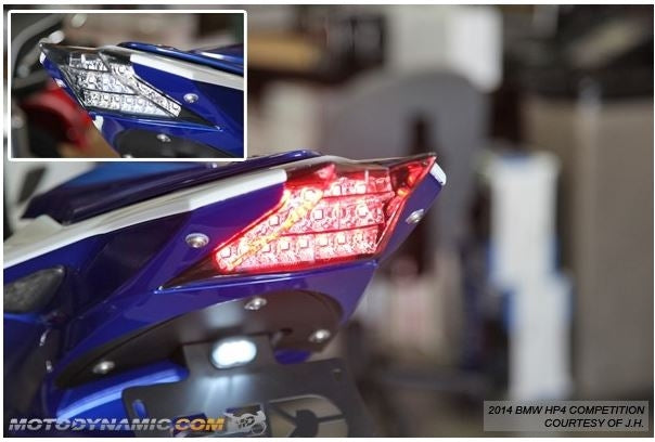 Motodynamic Sequential LED Tail Light 2010-2014 BMW S1000RR/HP4 | Smoke