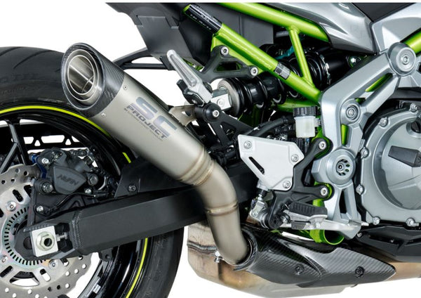 SC Project S1 Titanium Slip-On Exhaust System 2017+ Kawasaki Z900 [K25-T41T]