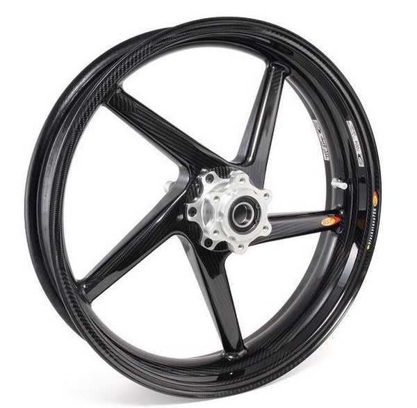"BST 3.5"" x ""17 5 Spoke Slanted Carbon Fiber Front Wheel for 2014-2015 Ducati 899 Panigale"