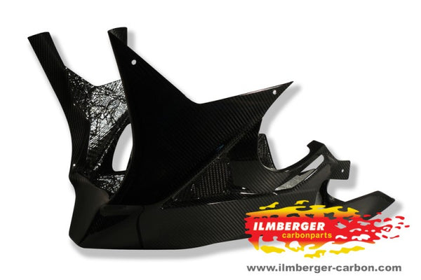 ILMBERGER Carbon Fiber Race Lower Fairing / Belly Pan (1 Piece) Use Only w.Racing Exhaust 2009-2014 BMW S1000RR