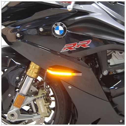 New Rage Cycles LED Front Turn Signals 2010-2016 BMW S1000RR/HP4