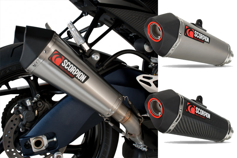 Scorpion Serket Taper Slip-on Twin Exhaust System 09-11 Suzuki GSXR 1000