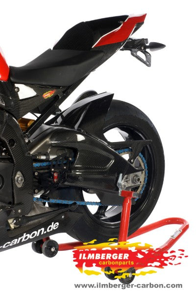 ILMBERGER Carbon Fiber Rear Hugger w/Upper Chain Guard (Non ABS) 2009-2017 BMW S1000RR