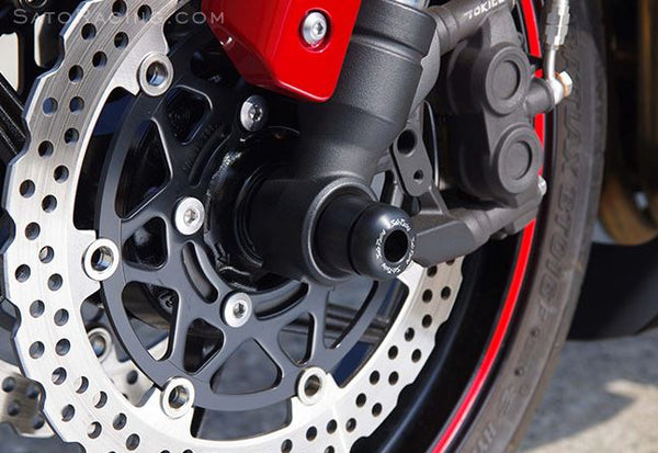 Sato Racing Front Axle Sliders For '10-'15 Kawasaki Z1000. '11-'15 Z1000SX [K-Z1010AS-F]