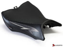 LuiMoto Tribal Flight Seat Covers for 2008-2015 Honda CB1000R - CF Black/Gunmetal/CF Silver