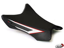 LuiMoto Team Kawasaki Seat Cover for 2011-2015 Kawasaki ZX10R - Cf Black/Red/White