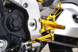 Sato Racing Adjustable Rearsets 09-12 Aprilia RSV4 - Gold
