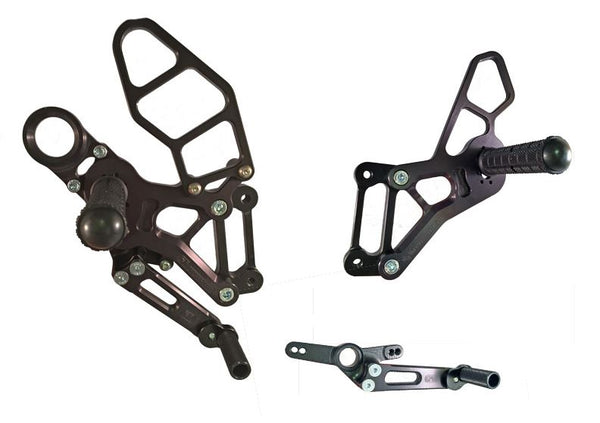 Woodcraft Std/GP Adjustable Rearsets Kit for 2015-2016 BMW S1000RR [05-0755B]