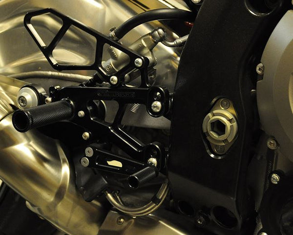 Woodcraft Rearset Kit GP Shift With Pedals for '10-'14 BMW S1000RR, '14-'16 S1000R