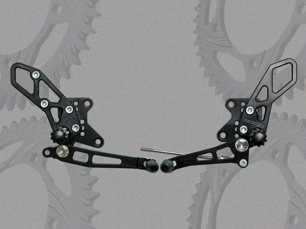 Vortex V2 Adjustable Rearsets for '08-'12 Kawasaki Ninja 250, '13-'15 Ninja 300