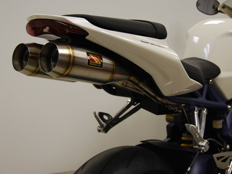 Competition Werkes GP Twin Stainless Steel Slip-on Exhaust 2006-2012 Triumph Daytona 675/R