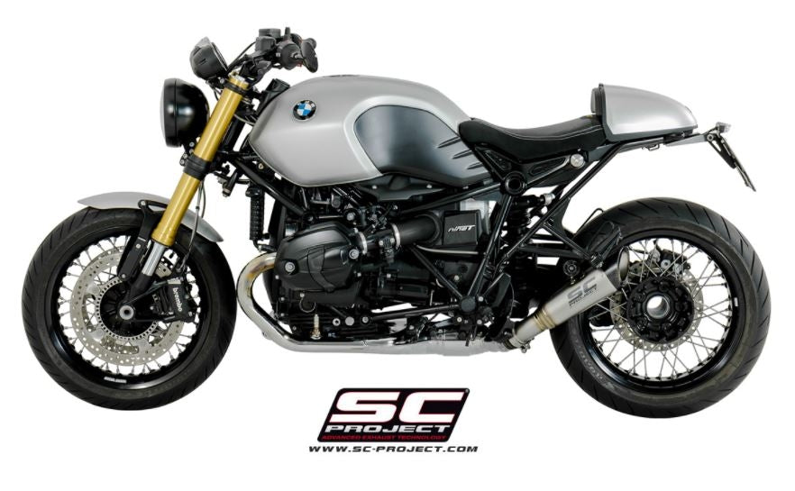sc project s1 slip on exhaust for bmw r nine t pure racer scrambler urban g s 2014. Black Bedroom Furniture Sets. Home Design Ideas