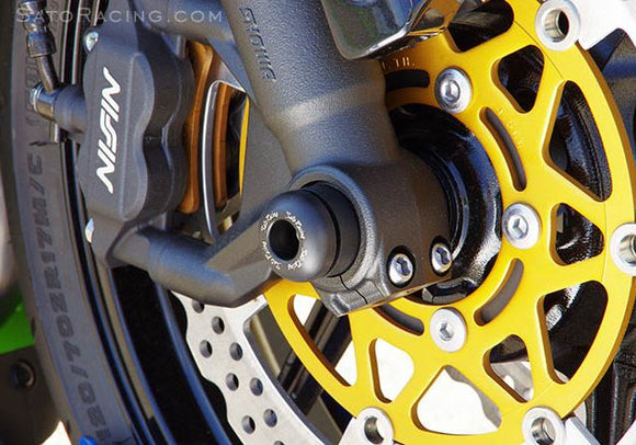 Sato Racing Axle Sliders / Protectors for 2013-2015 Kawasaki ZX-6R 636 (Pair)