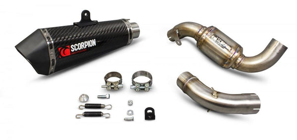 Scorpion Serket Taper 3/4 Slip-On Exhaust System '13-'16 KTM 390 Duke