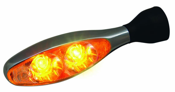 Kellermann Micro 1000 Extreme - Dual LED Turn Signal (Each) - Chrome