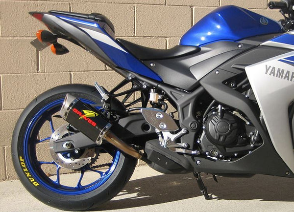 Graves Motorsports Carbon Cat-Black Slip On Exhaust 2015-2016 Yamaha R3 [EXY-15R3-CBSC]